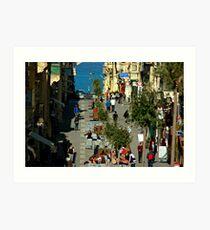 Merchants Street, Valletta, Malta Art Print