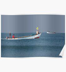 Fishing Boats North Goa Poster