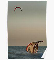 Kitesurfer Down Mandrem Poster