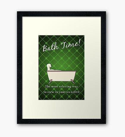 Bath Time! Framed Print