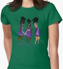 CRYSTAL, RONETTE & CHIFFON. Women's Fitted T-Shirt
