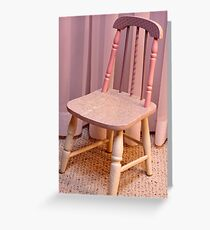 Hand Painted Child's Chair  Greeting Card