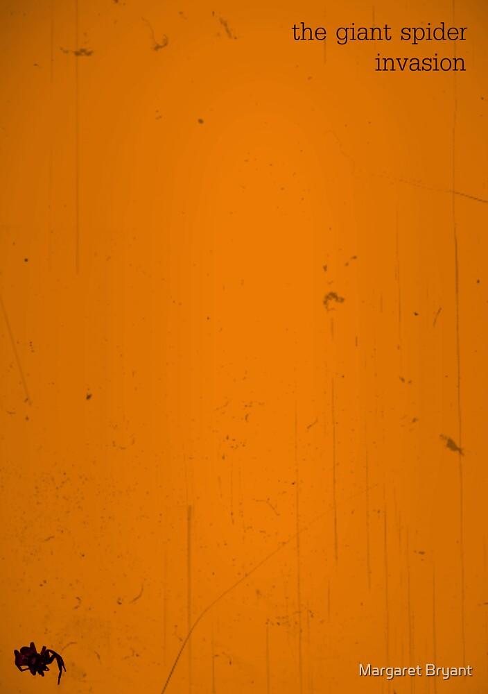 The Giant Spider Invasion minimalist poster (orange) by Margaret Bryant