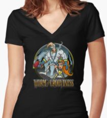 Worm of Grooviness Women's Fitted V-Neck T-Shirt