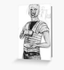 The Roman Centurion Has Coffee Greeting Card