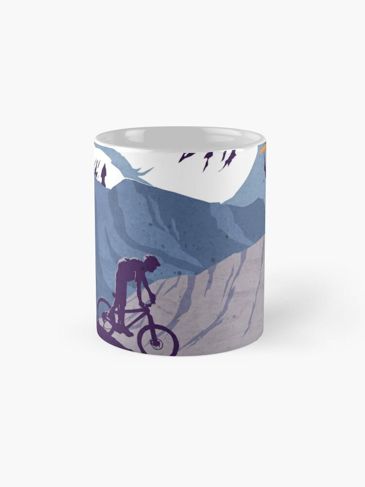 Vista alternativa de Taza estándar Cartel de ciclismo retro Live to Ride, Ride to Live