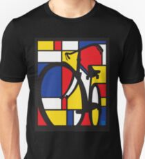 Mondrian Bicycle Unisex T-Shirt