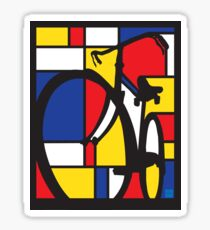 Mondrian Bicycle Sticker