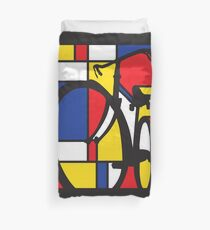 Mondrian Bicycle Duvet Cover