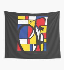Mondrian Bicycle Wall Tapestry