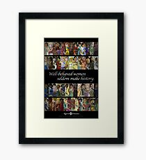 Rejected Princesses 1 Year Anniversary Poster Framed Print