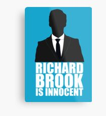 Richard Brook is Innocent Metal Print