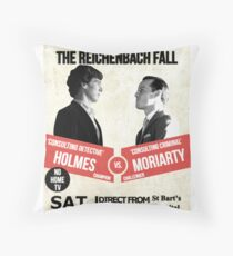 HOLMES vs MORIARTY Throw Pillow