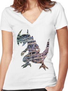 Haxorus used guillotine Women's Fitted V-Neck T-Shirt