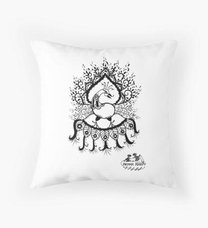 Peacock#1 Throw Pillow
