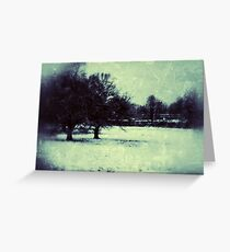 Earlswood in Snow, Digtal photography Greeting Card