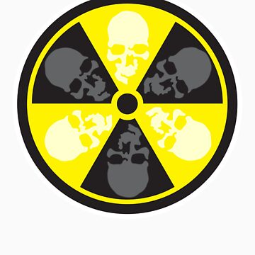 Radioactive Skulls T-shirt by liquidentity