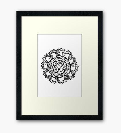 Art Deco Floral Mandala Framed Print