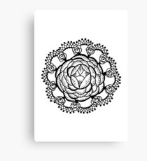 Art Deco Floral Mandala Canvas Print