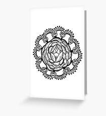 Art Deco Floral Mandala Greeting Card