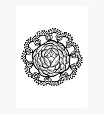 Art Deco Floral Mandala Photographic Print