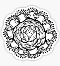 Art Deco Floral Mandala Sticker