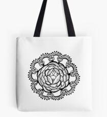 Art Deco Floral Mandala Tote Bag