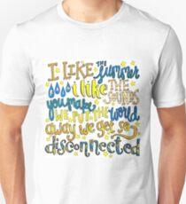 Disconnected Lyric Art T-Shirt