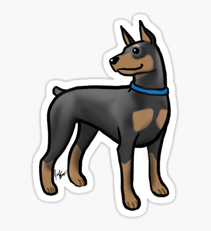 Doberman Glossy Sticker