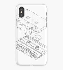 Exploded Cassette Tape  iPhone Case/Skin