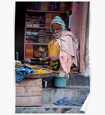Merchant In Doorway Poster