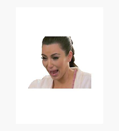 Kim Kardashian Crying Photographic Print