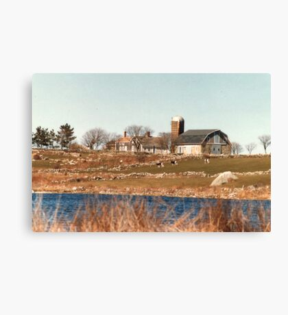 Old New England Farm Canvas Print