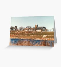 Old New England Farm Greeting Card