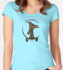 Dark Brindle Greyhound IAAM Women's Fitted Scoop T-Shirt