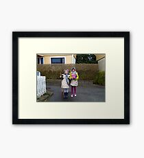 People Dressed as Maundy Thursday Witches Framed Print