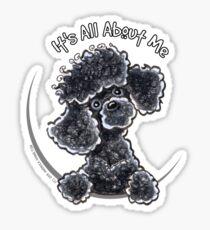 Black Toy Poodle IAAM Sticker
