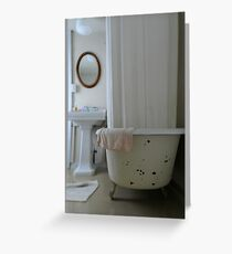 clawfoot bathtub Greeting Card