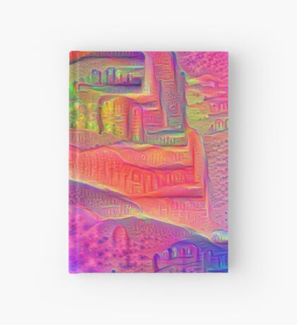 DeepDream Tomato Steelblue 5x5K v4 Hardcover Journal