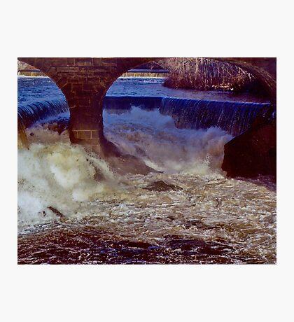 Main Street Dam on the Blackstone Photographic Print