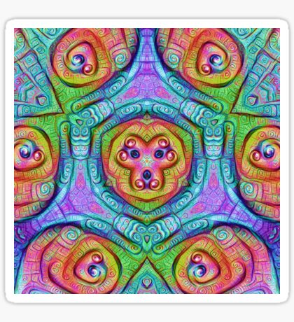 DeepDream Tomato Steelblue 5x5K v5 Sticker