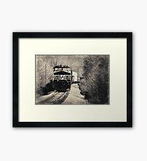 On a Rail Framed Print