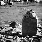 Rocks on the Rivers Edge  by Marcia Rubin