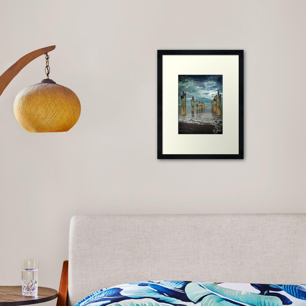 Old Jetty - Flinders Island Framed Art Print