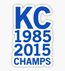 KC Royals 2015 Champions LARGE BLUE FONT Sticker