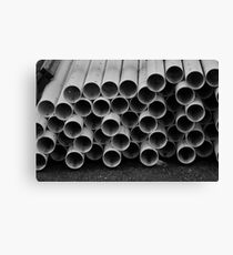 Pipes With No Home  Canvas Print