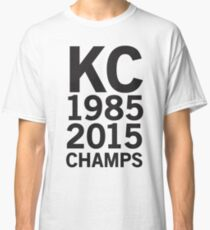 KC Royals 2015 Champions LARGE BLACK FONT Classic T-Shirt