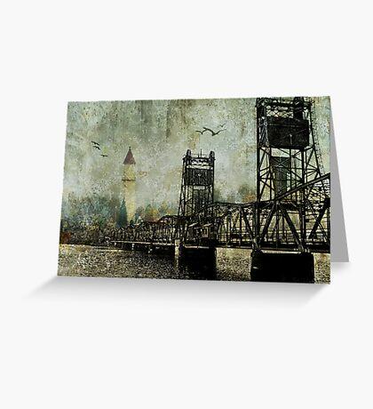 Beyond the Bridge Greeting Card