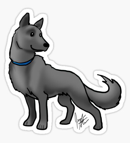 German Shepherd Black Sticker