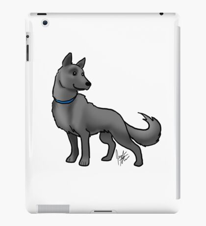 German Shepherd Black iPad Case/Skin